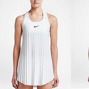 White Wimbledon Pleated Nike Tennis Dress